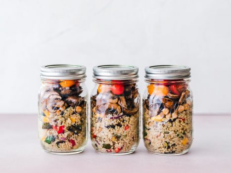 food prepping jars