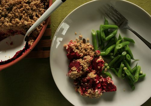 Beetroot Crumble