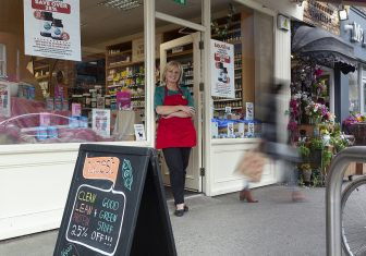 Image of woman standing outside Nourish Store