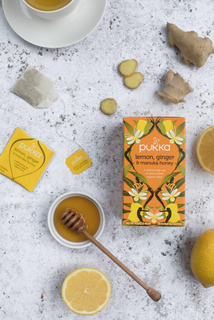 Pukka Lemon Ginger Manuka Honey tea