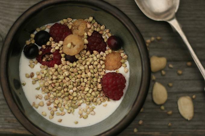raw buckwheat granola