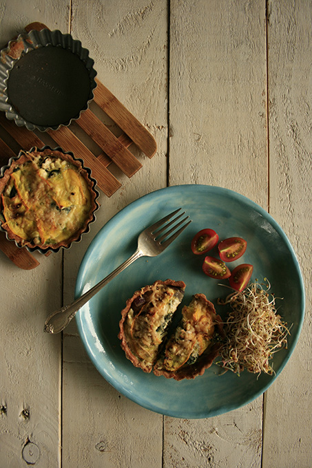 courgette and spinach tart