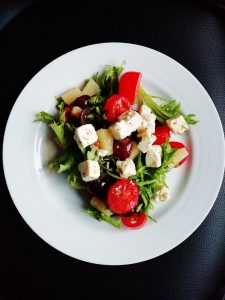 chickpea and feta salad