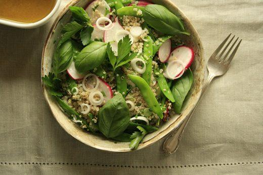 gluten-free dish with quinoa