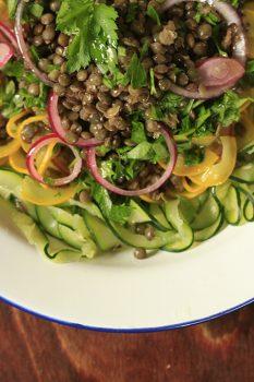 speckled lentil salad