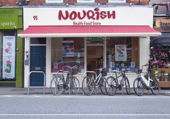 Nourish Sandymount Shop Front with bikes outside