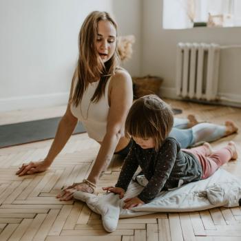 prenatal yoga with child