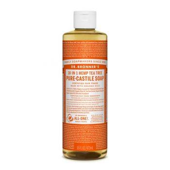 Dr Bronner's liquid castile soap for cleaning