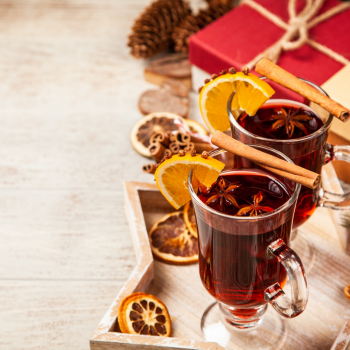 Mulled wine with elderberry