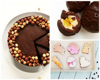 Easter Chocolate Ideas - cake, eggs and cookies