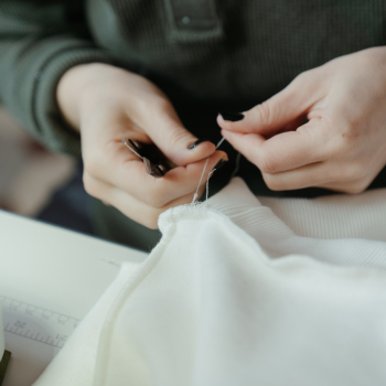mending clothes damaged by moths
