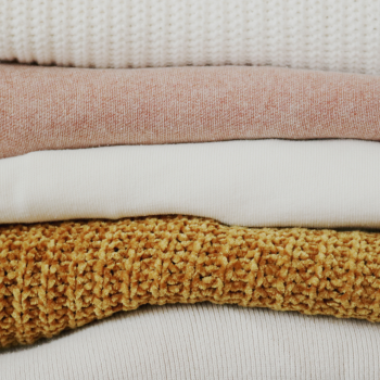 Prevent and Treat Moths and Silverfish Naturally - stack of knitwear