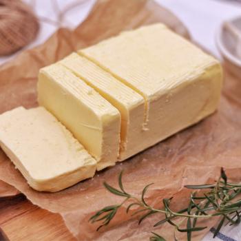 block of cut butter to make ghee